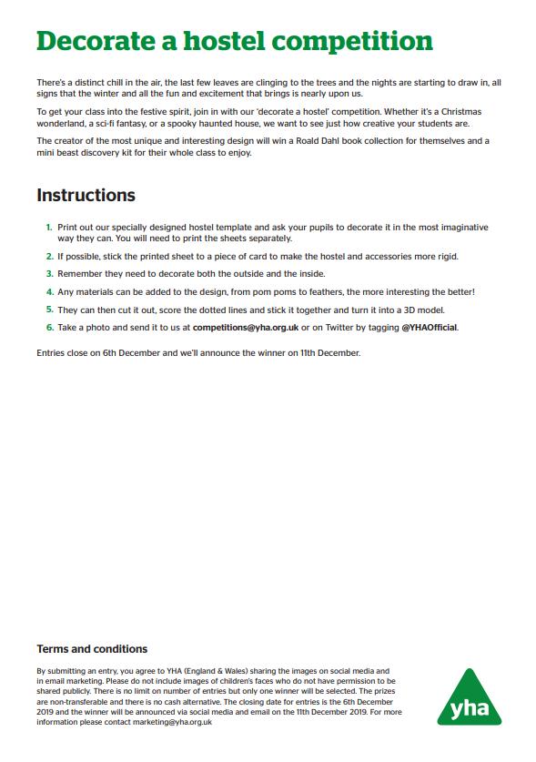 Build a hostel instructions