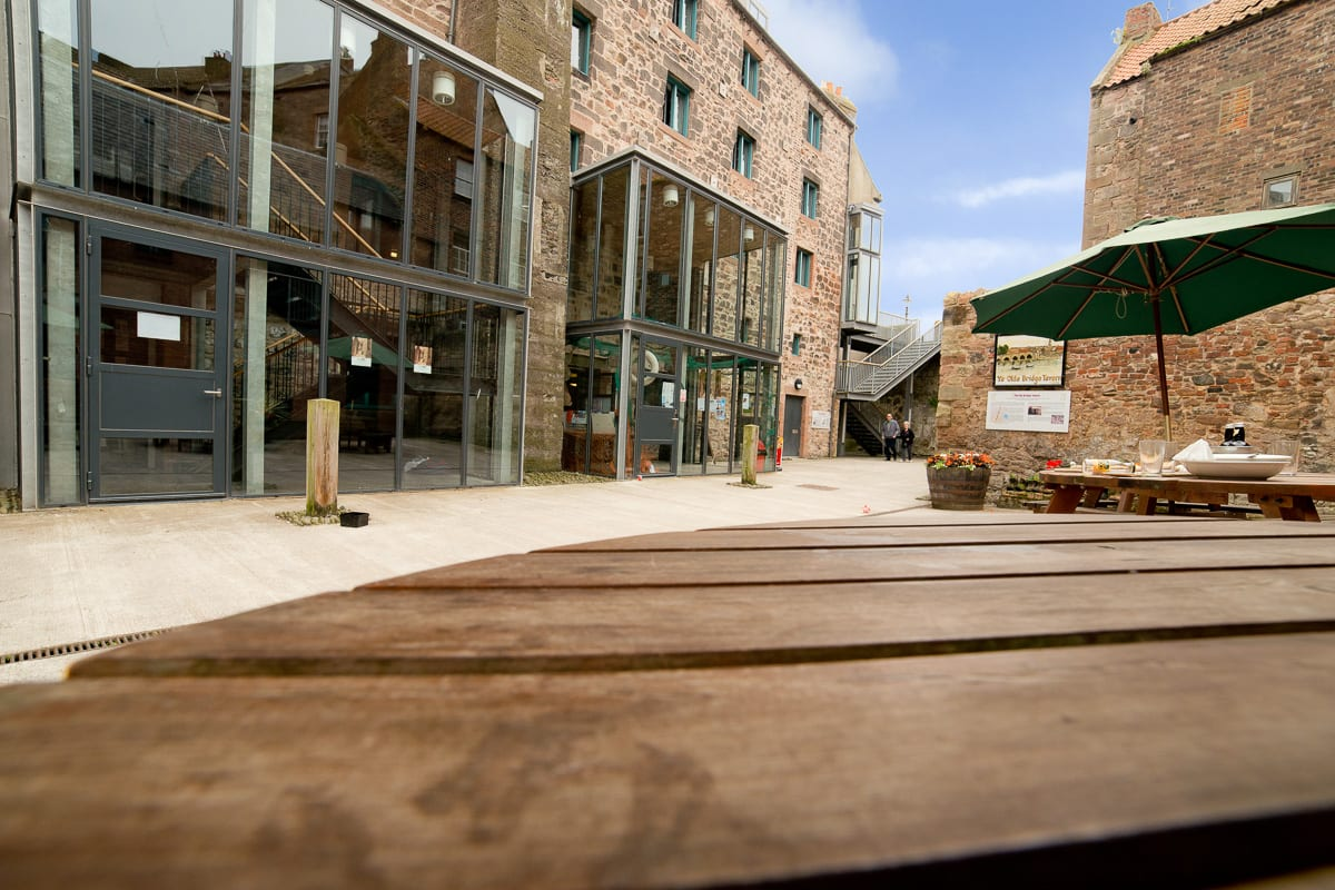 YHA Berwick Outdoor Seating and Building