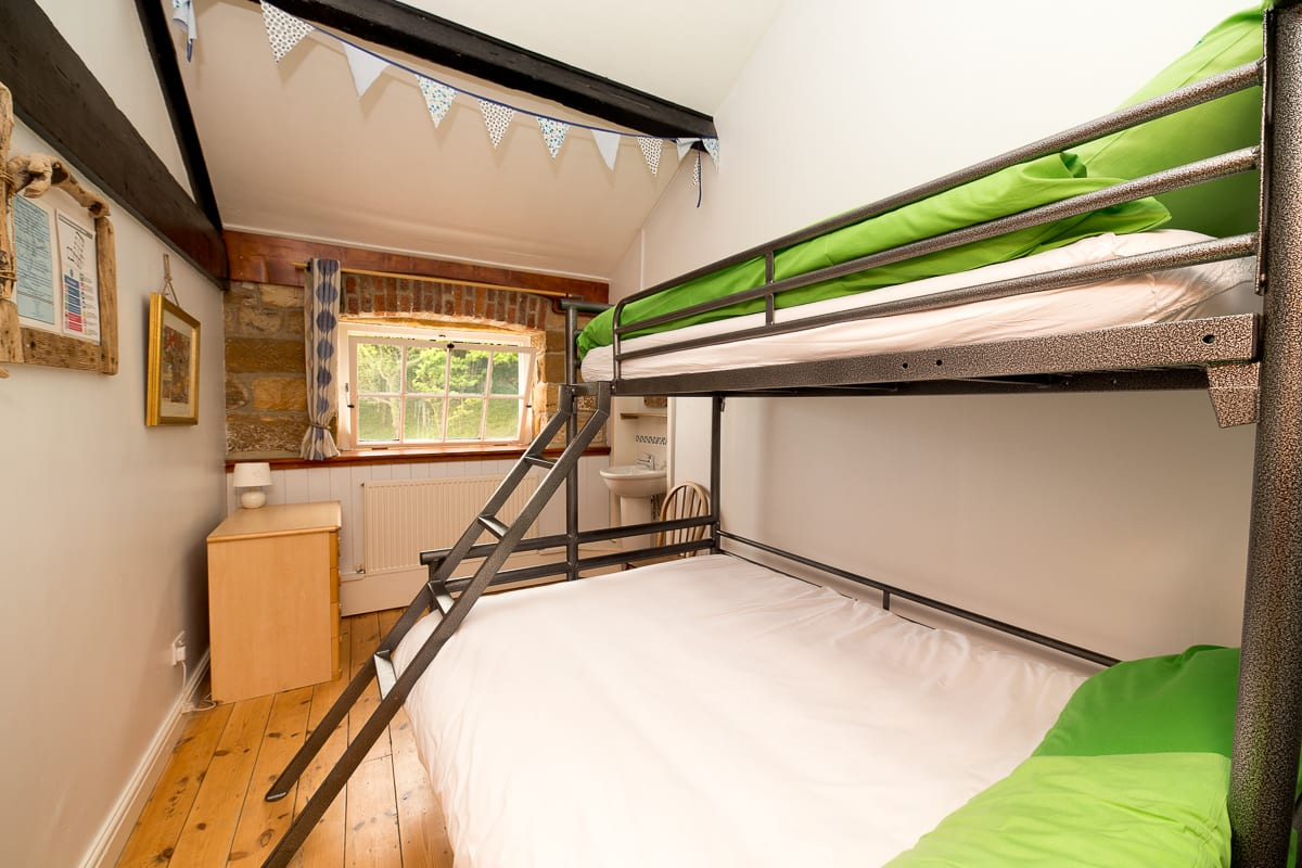 YHA Boggle Hole Double Bed in Dorm Room