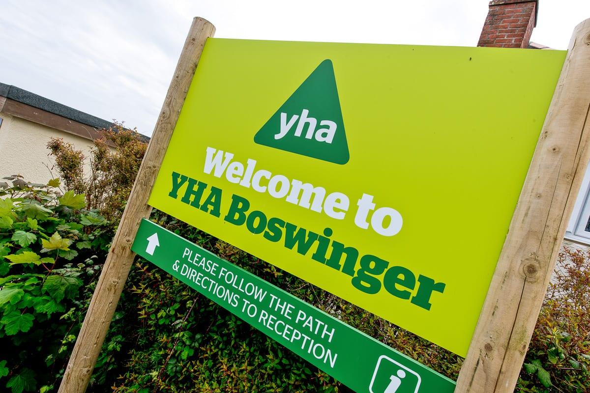 YHA Boswinger Welcome Sign