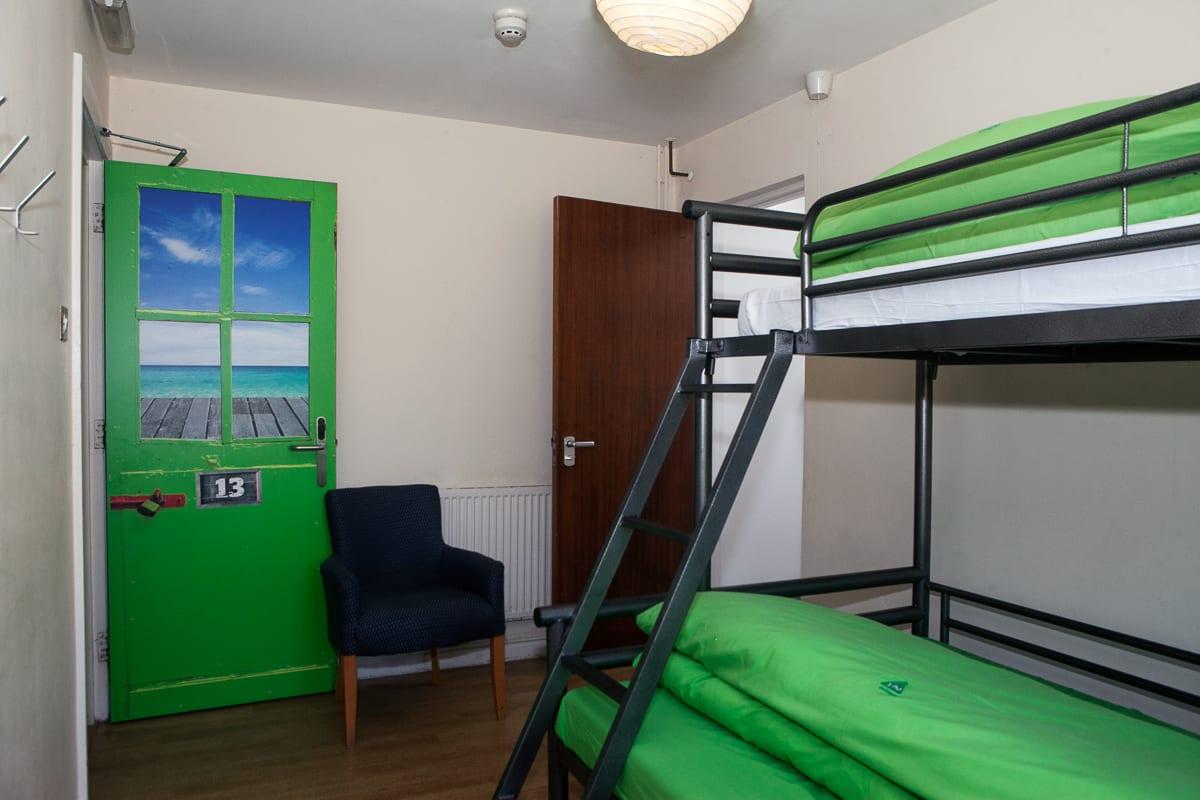 YHA Broad Haven Double Bed in Dorm Room