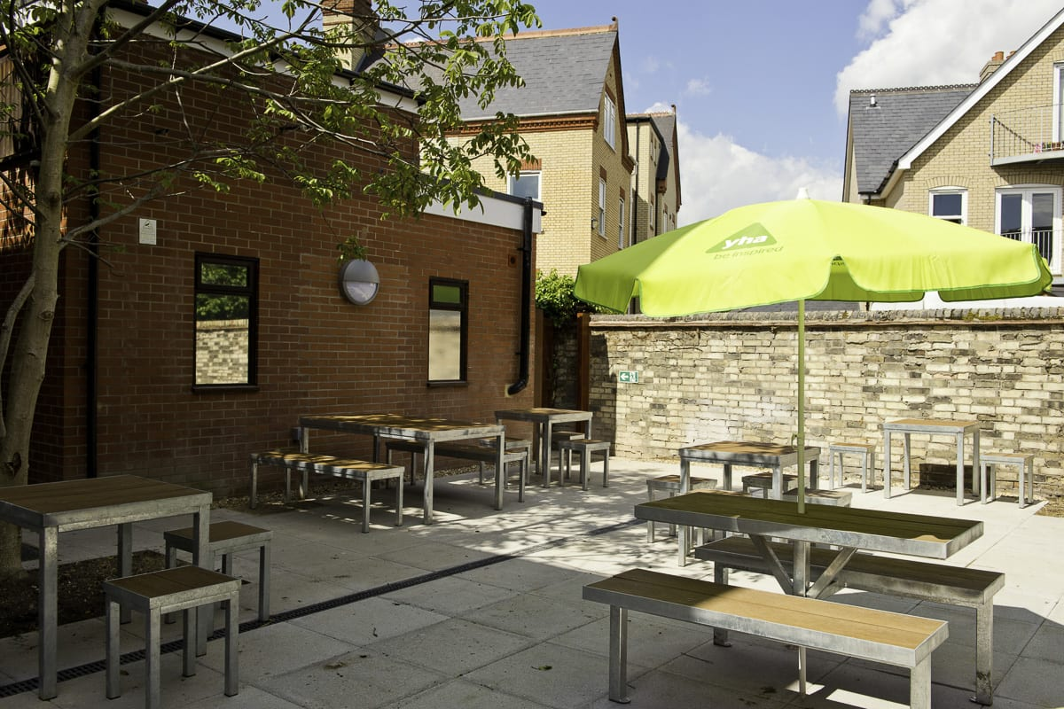 Outdoor Seating at YHA Cambridge