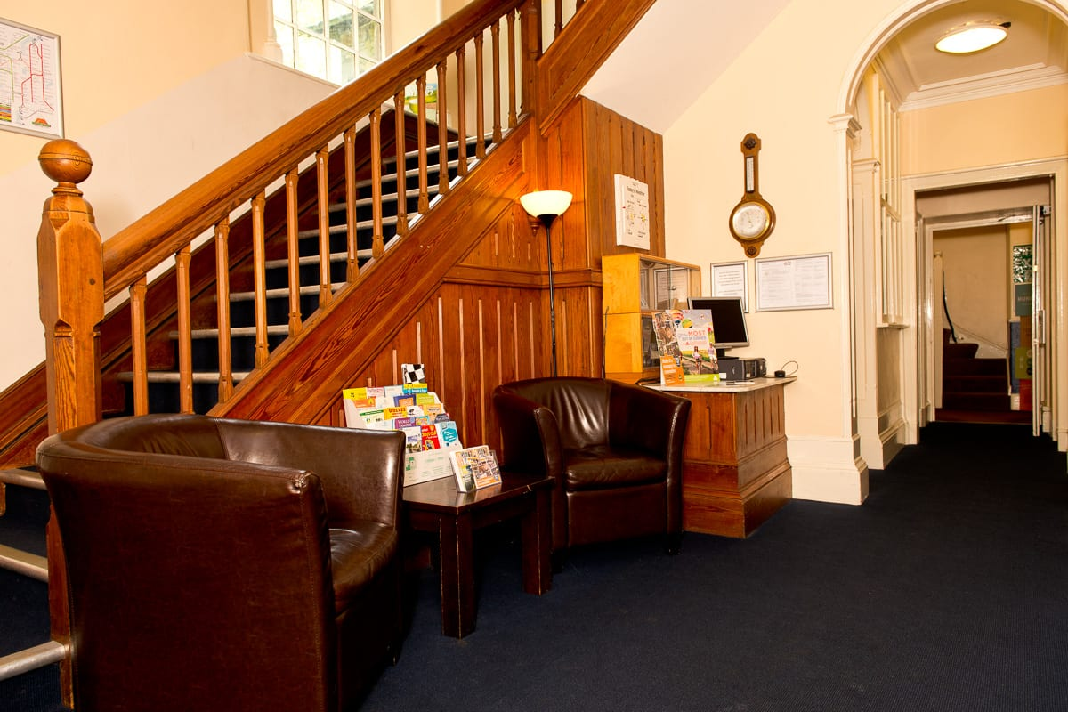 Sitting area in hallway