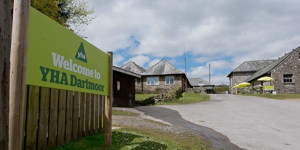 YHA Dartmoor Welcome Sign