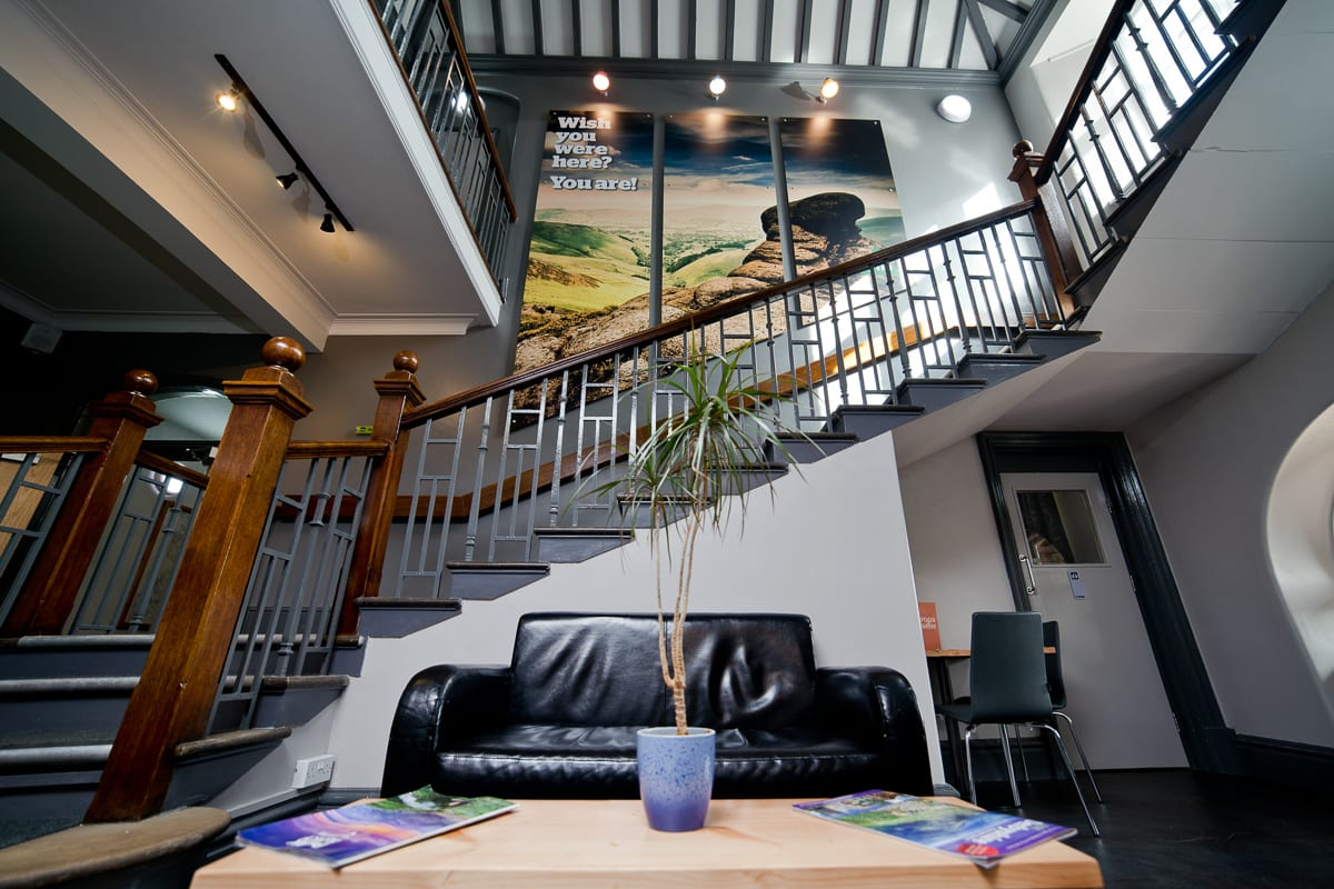 YHA Edale Lobby and staircase