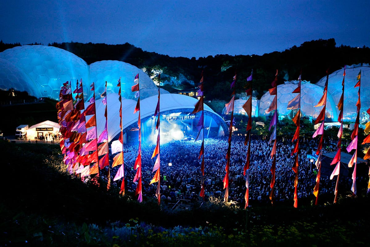 Eden Project Festival at Night
