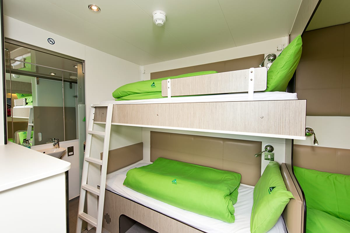 Bunk beds at YHA Eden Project