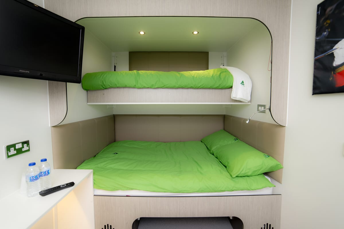 Double bed with bunk