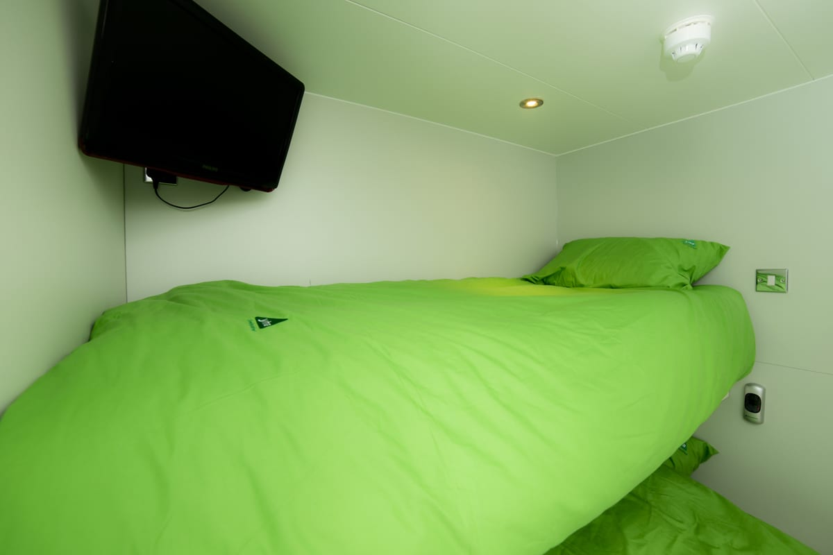 Bunk bed in a Snoozebox at YHA Eden Project