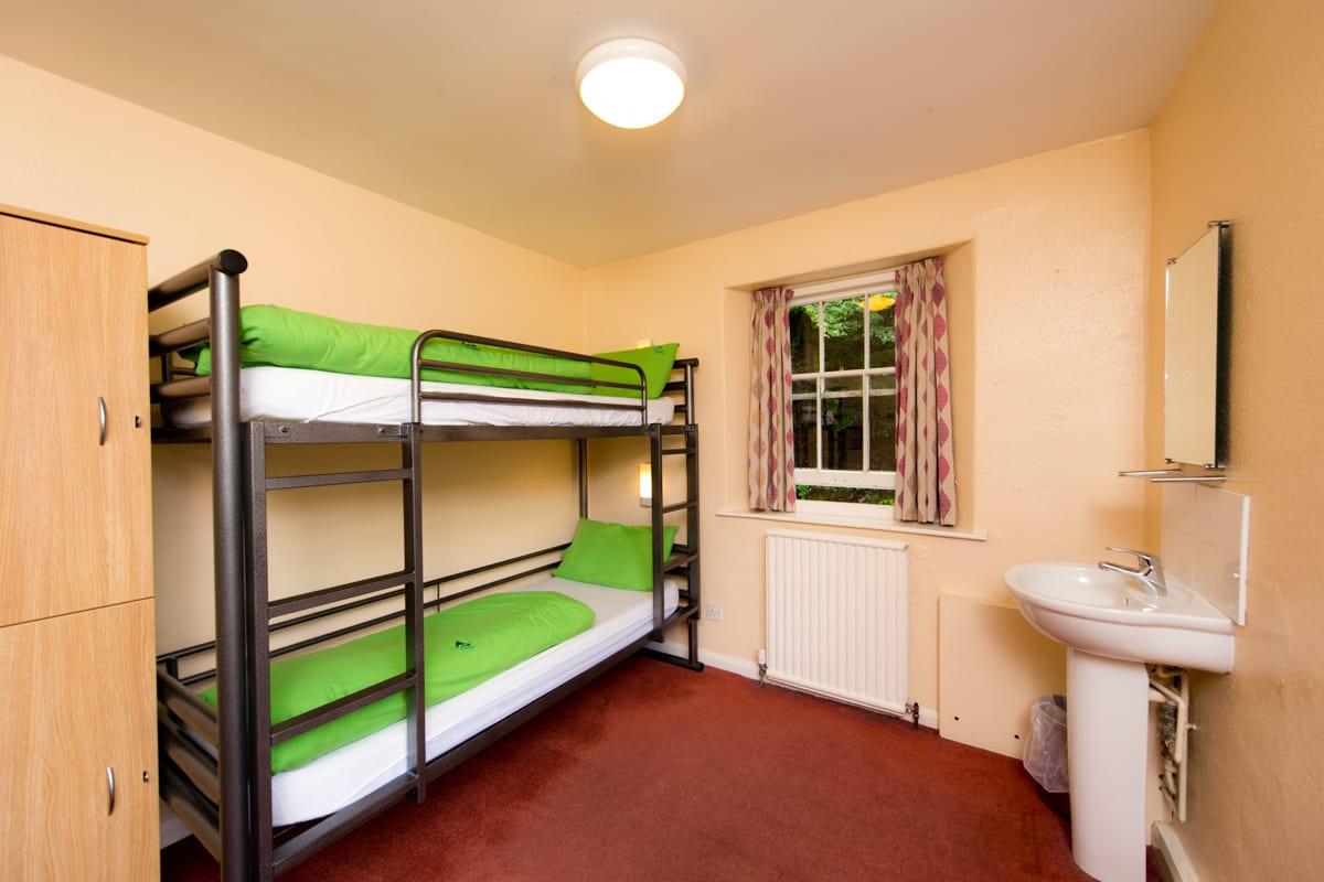 Dorm room with bunk beds