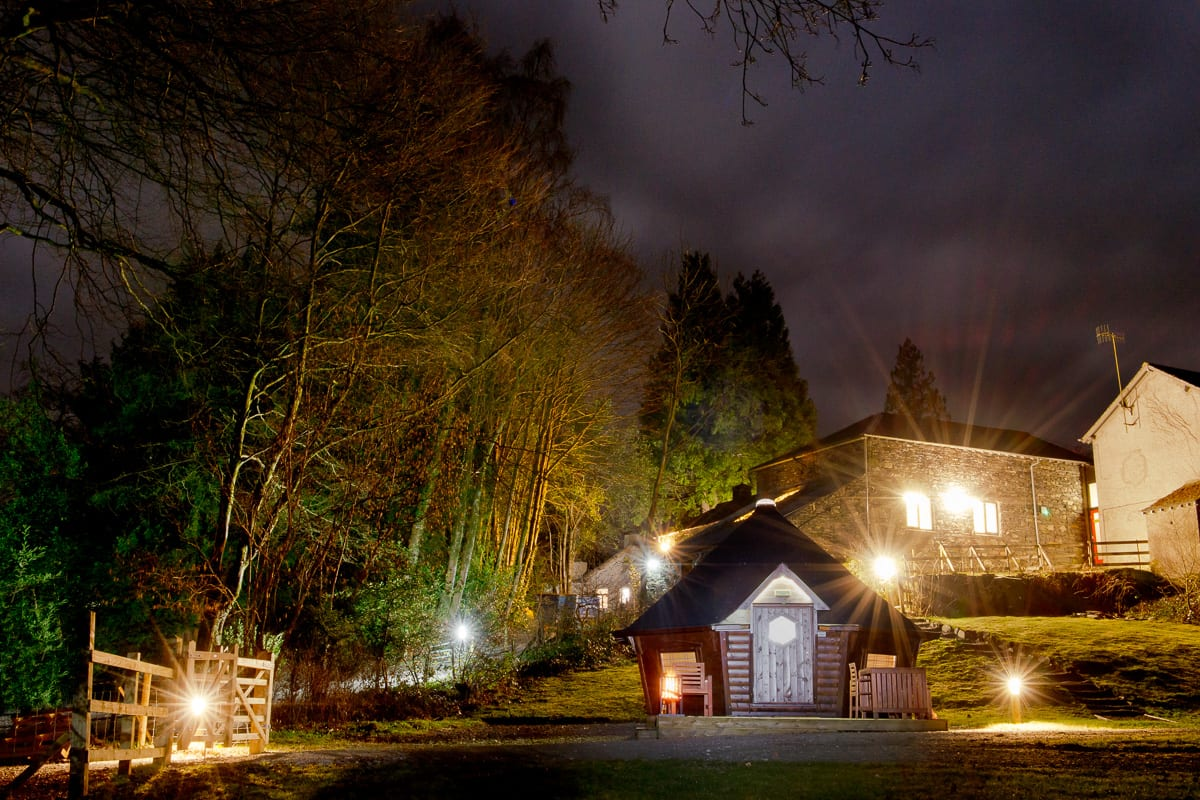 YHA Hawkshead at Night