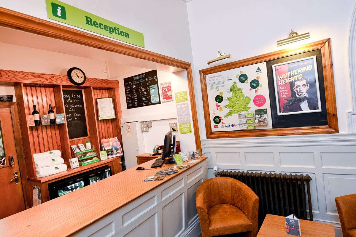 YHA Haworth Reception