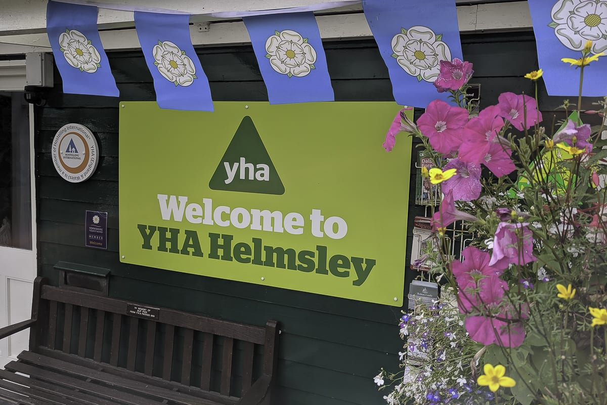 YHA Helmsley Welcome Sign