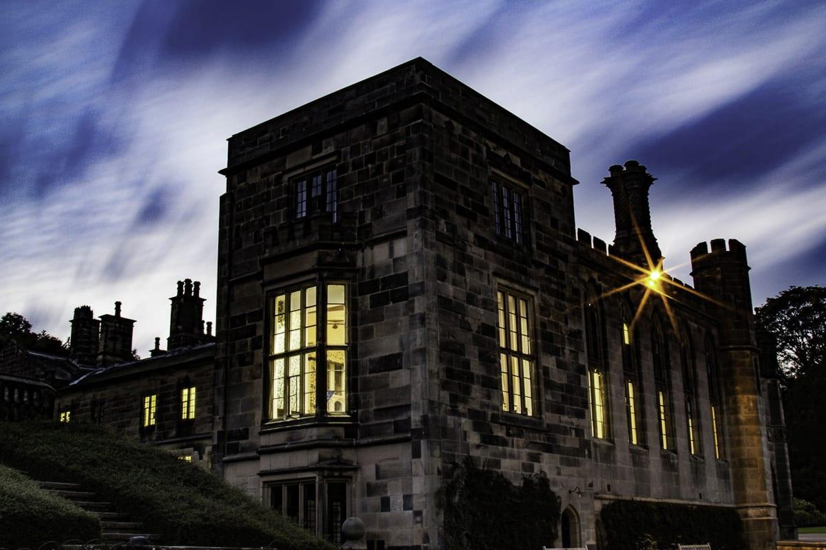 YHA Ilam Hall at Night