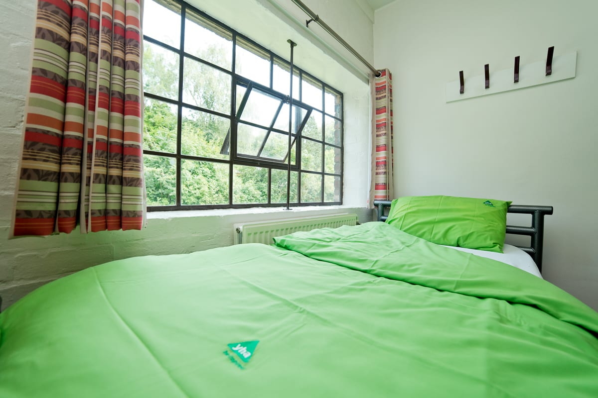 Bed in a dorm room