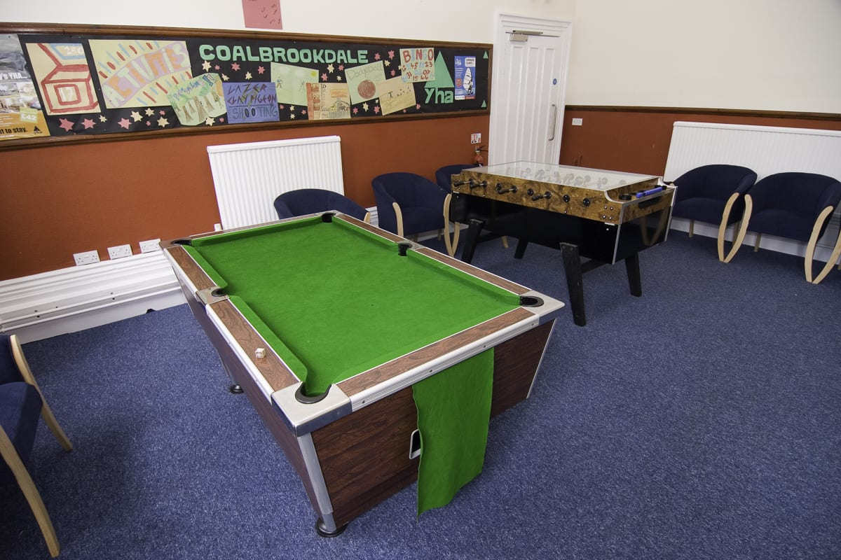 YHA Ironbridge Coalbrookdale Games Room