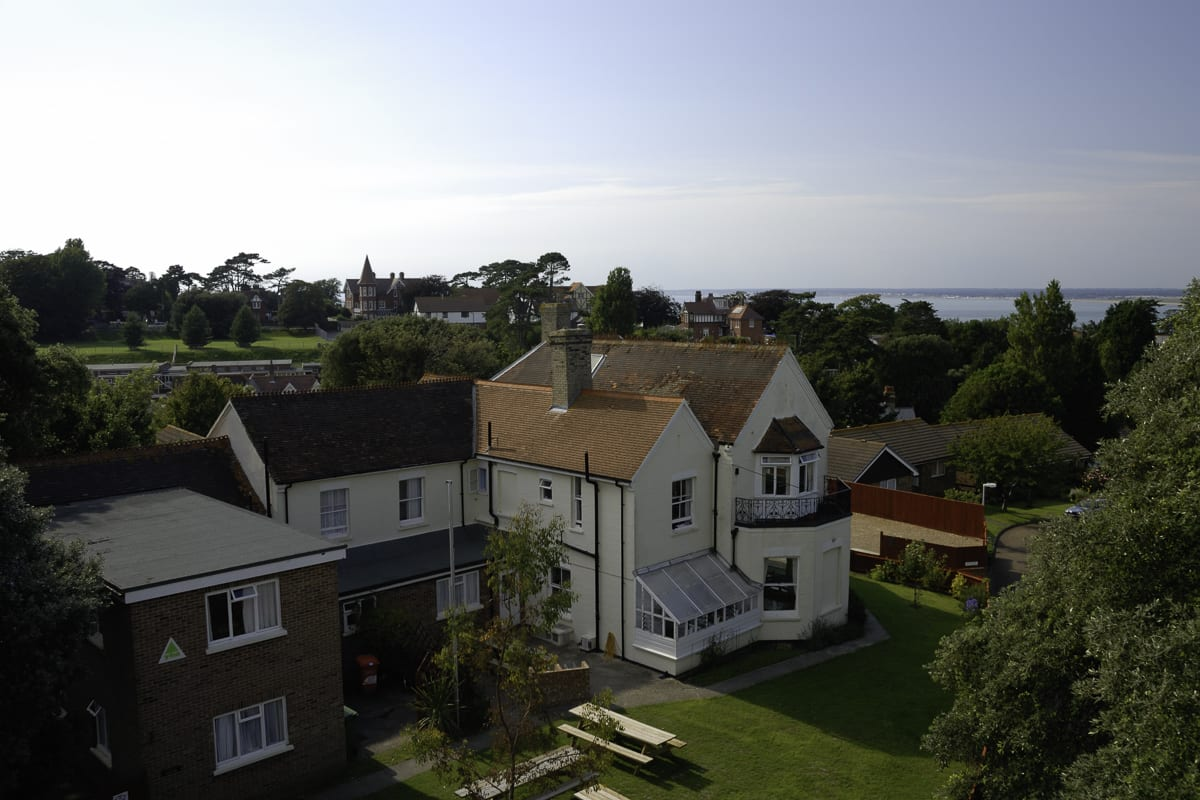 YHA Isle of Wight Totland Aerial View