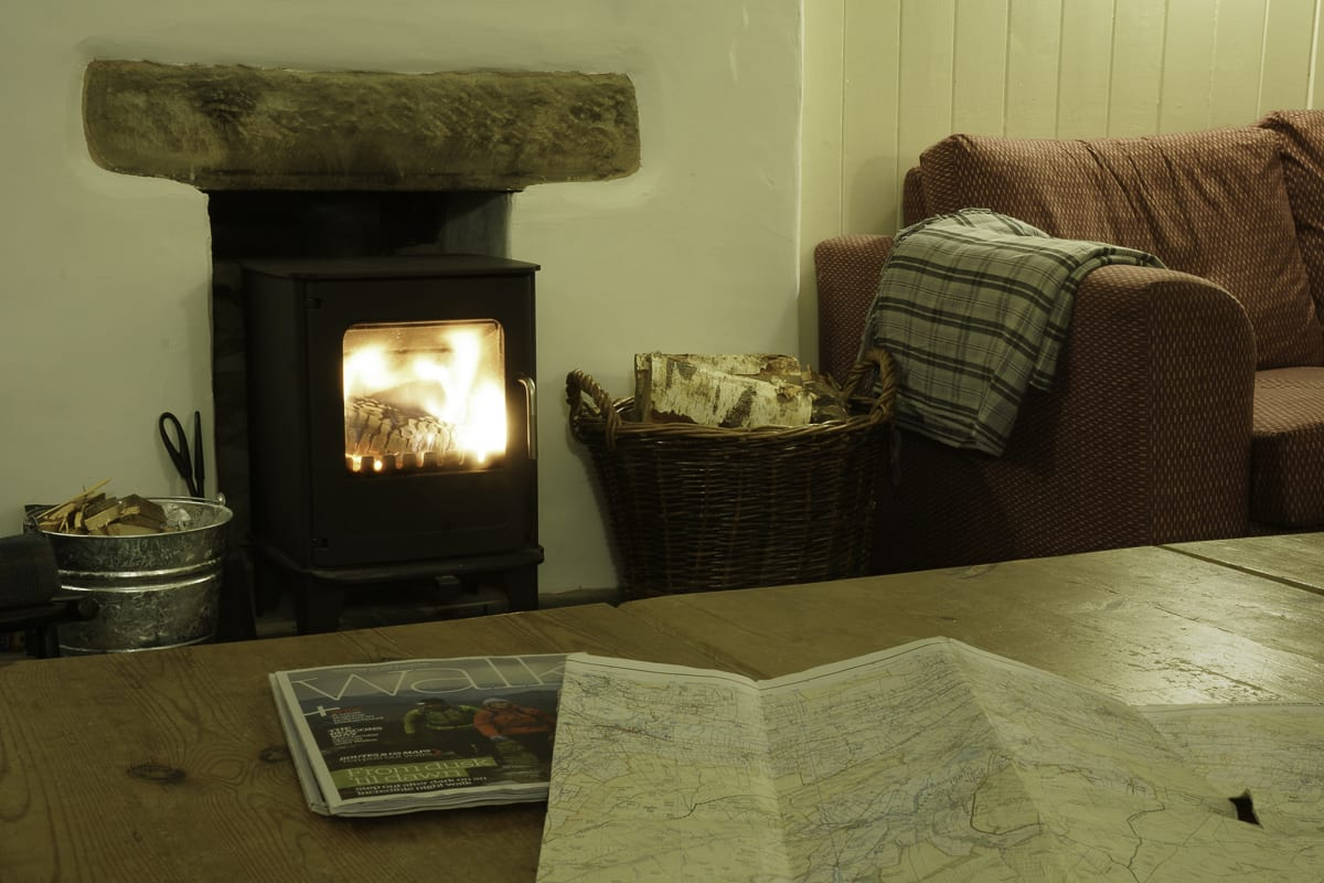 YHA Kettlewell Lounge and Fireplace