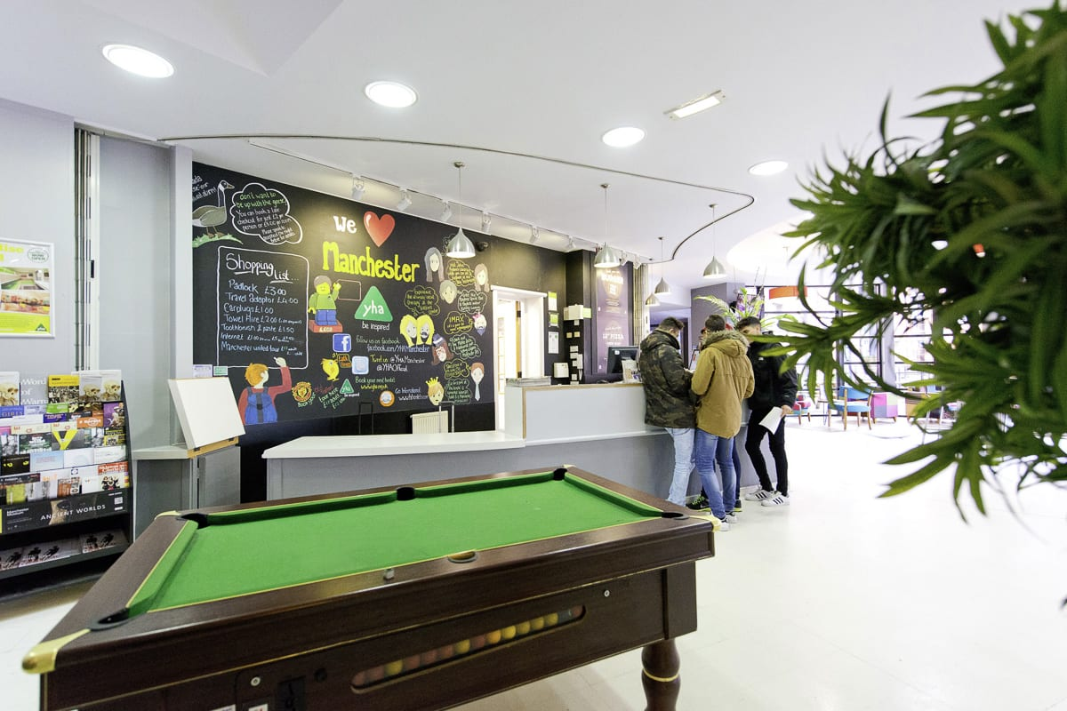 YHA Manchester Pool Table