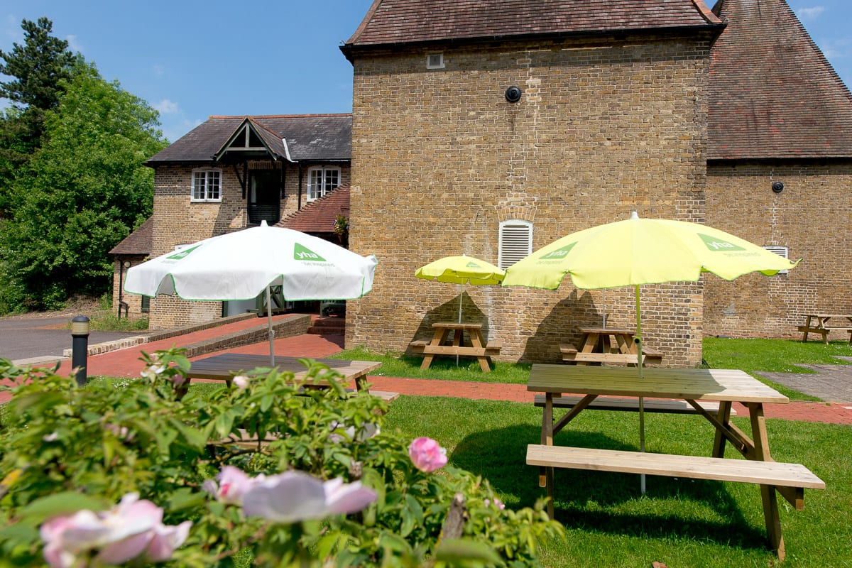 YHA Medway Courtyard and Outdoor Seating