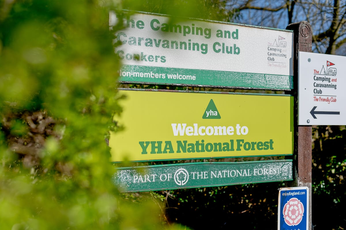 YHA National Forest Welcome Sign