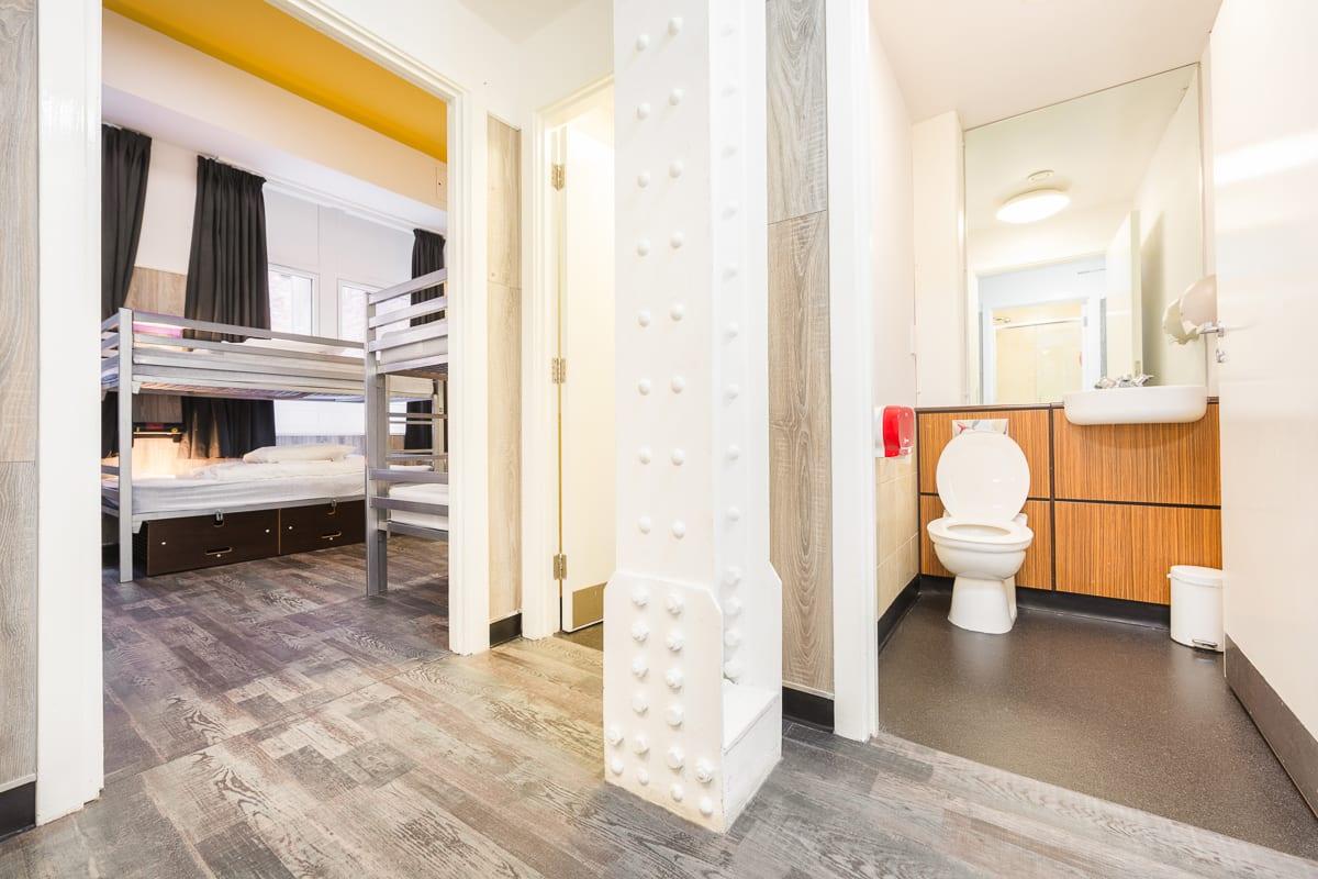 Hostel bathroom facilities