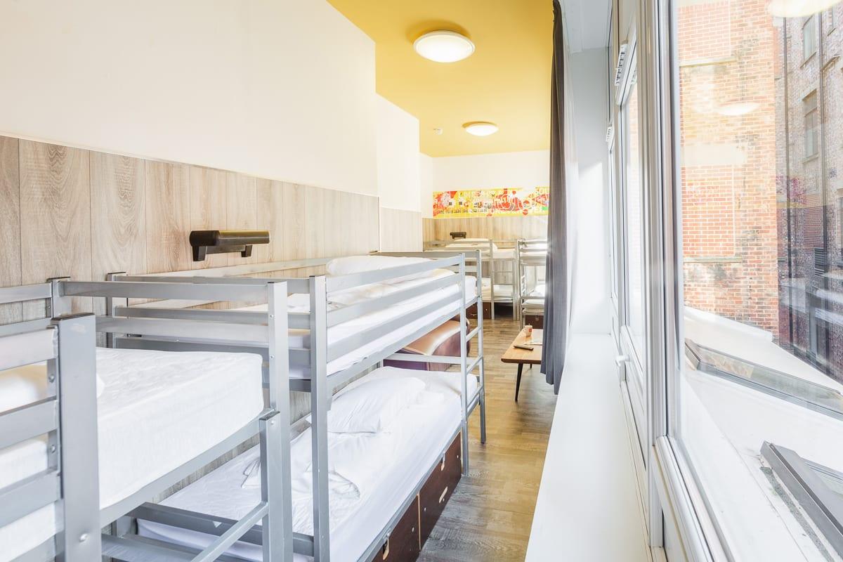 Bunk beds in dorm room