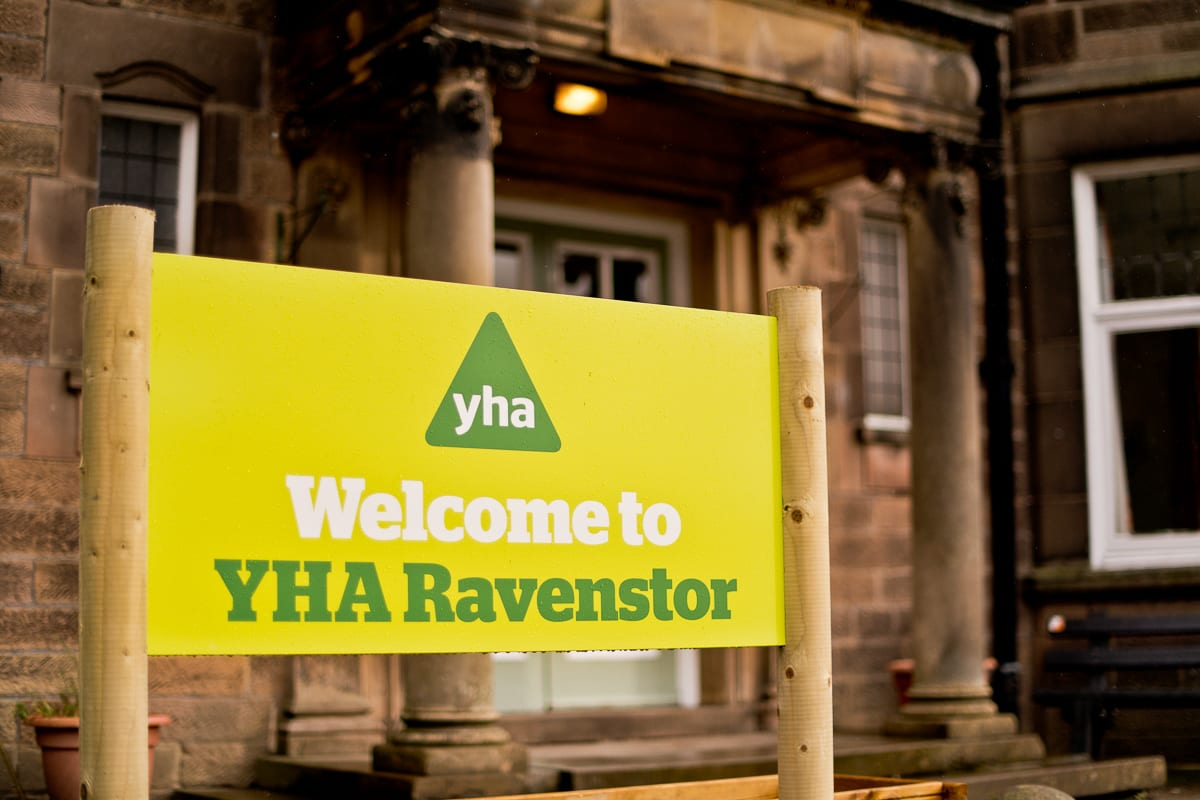 YHA Ravenstor Welcome Sign