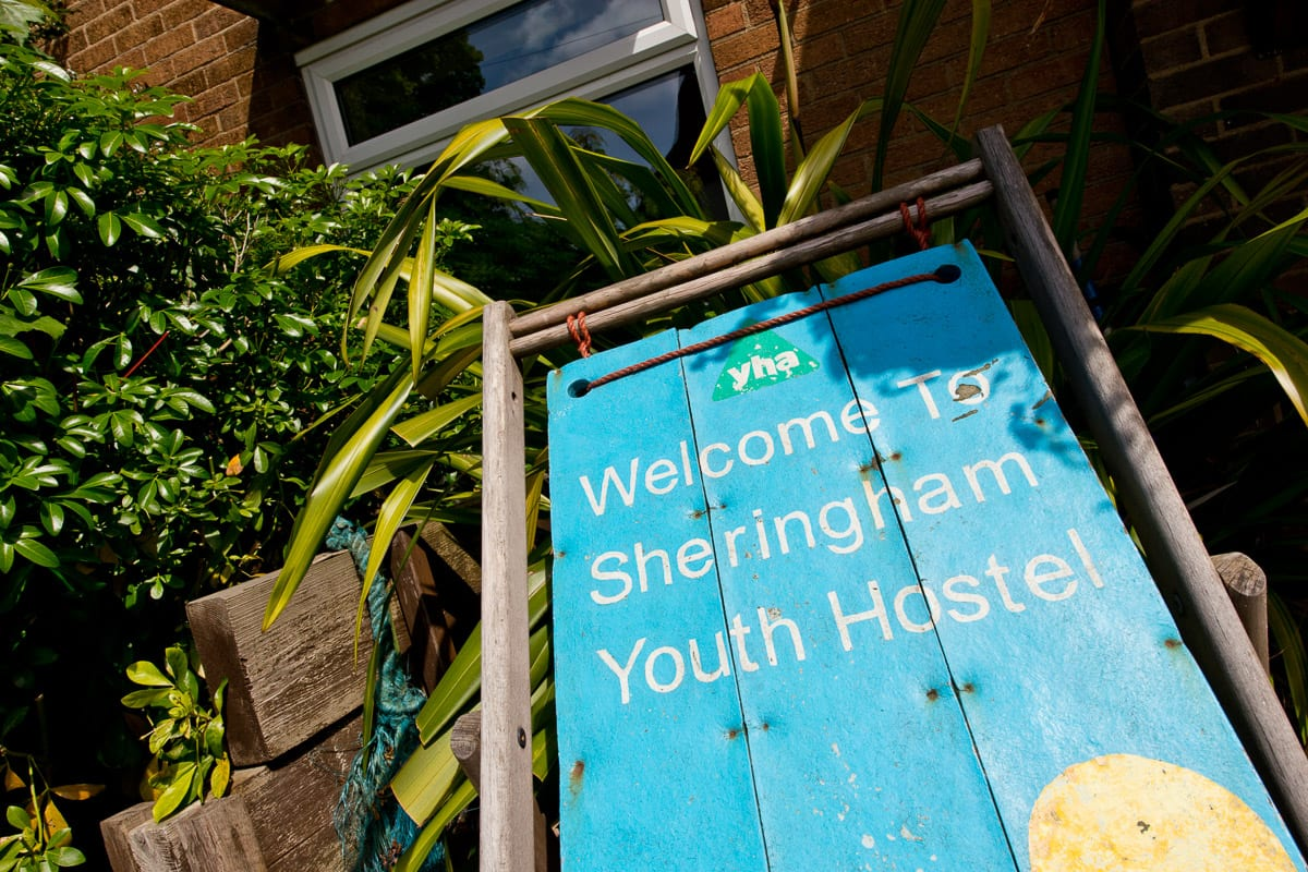 YHA Sheringham Sign
