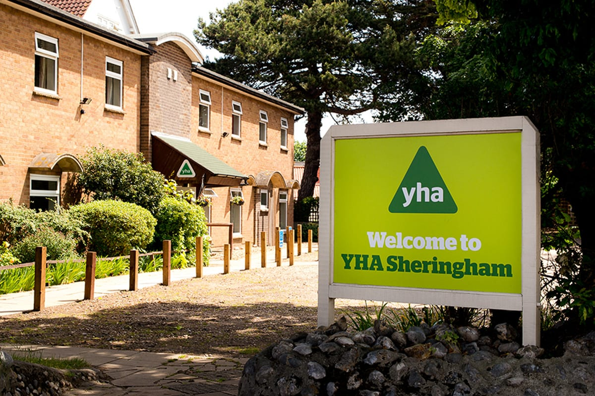 YHA Sheringham Welcome Sign