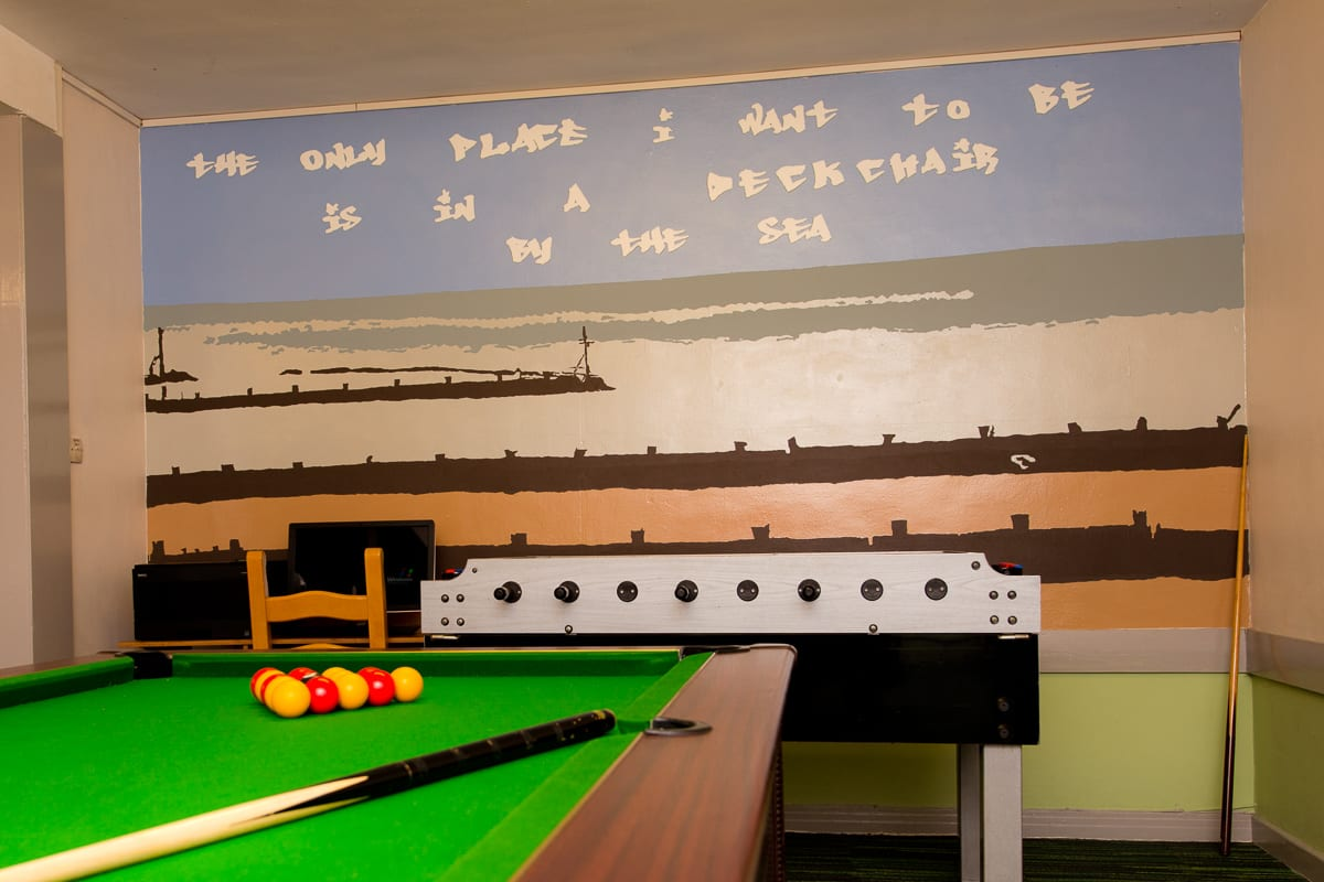 YHA Sheringham Games Room