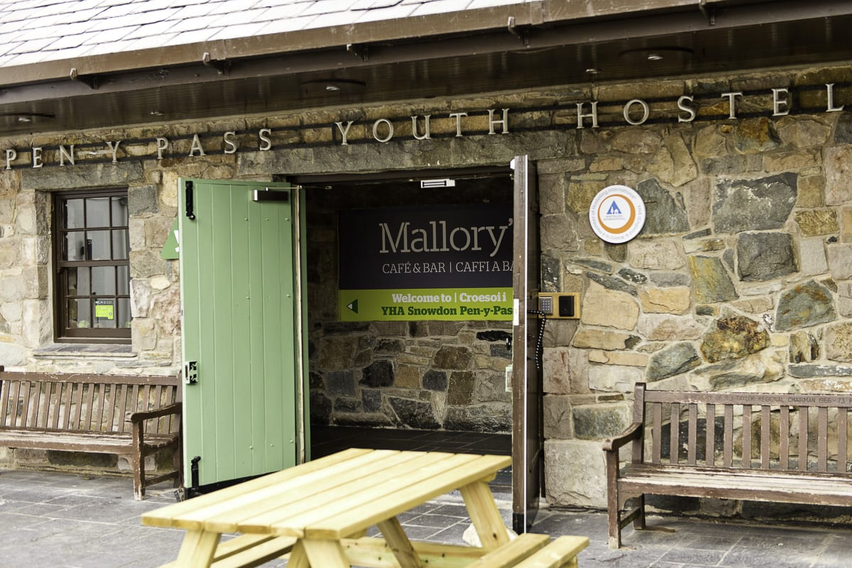 YHS Snowdon Pen-Y-Pass Restaurant Entrance
