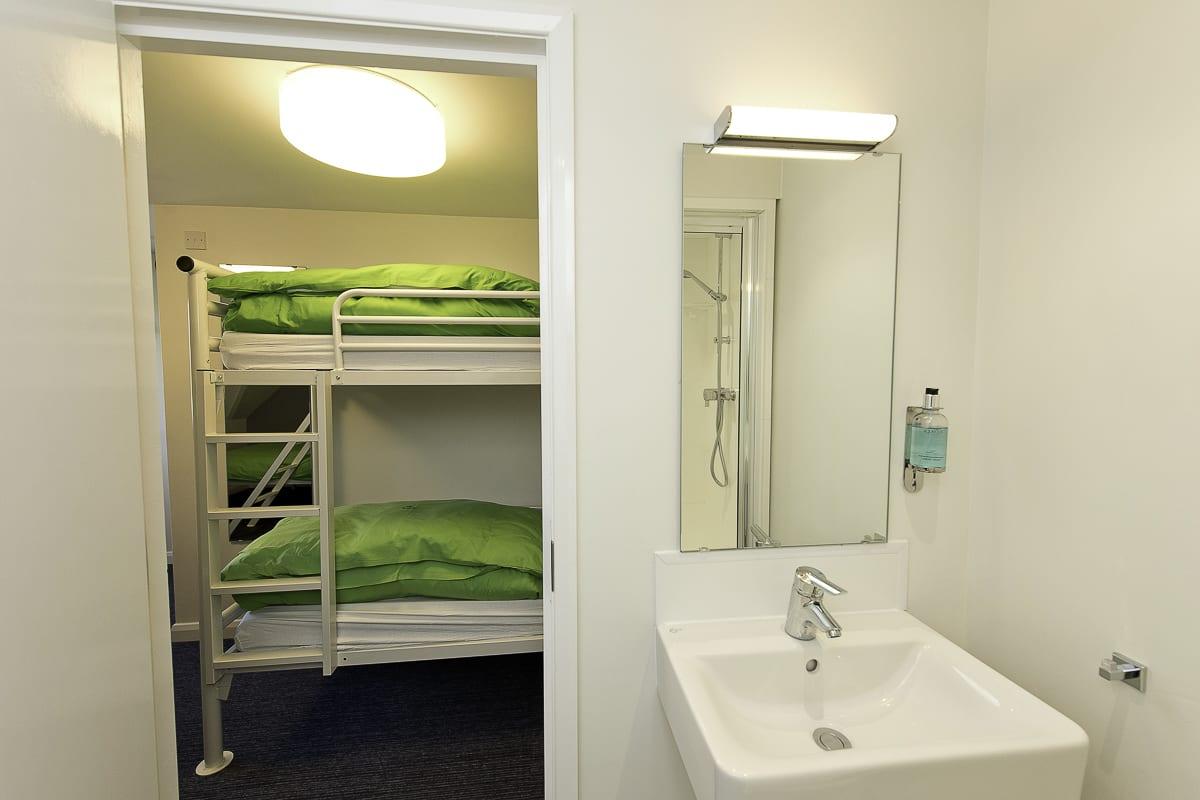 YHA Treyarnon Bedroom with Sink