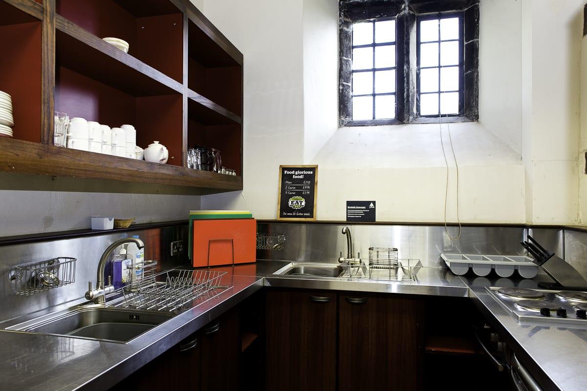 YHA Wilderhope Manor Kitchen