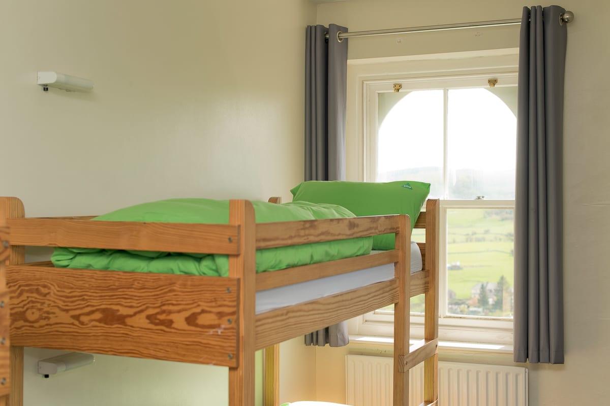 bunk bed in dorm room
