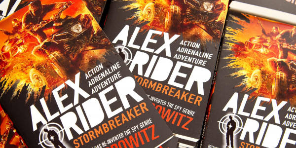 Alex Rider books at YHA Wye Valley