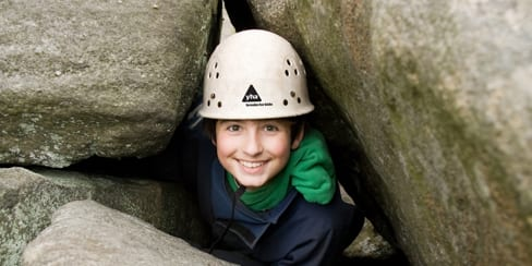 Child enjoying a YHA bolt-on