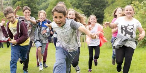 Children having fun with YHA