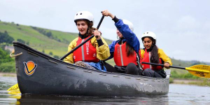YHA Edale activity boat