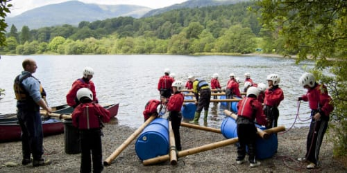 Making rafts with YHA