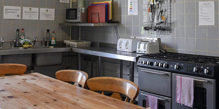 YHA self-catering kitchen
