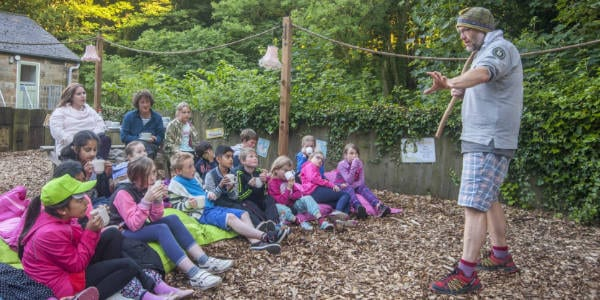 Story time at YHA Boggle Hole