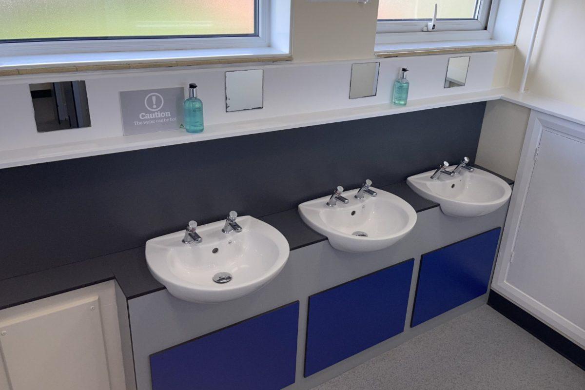 Sinks in shared bathroom