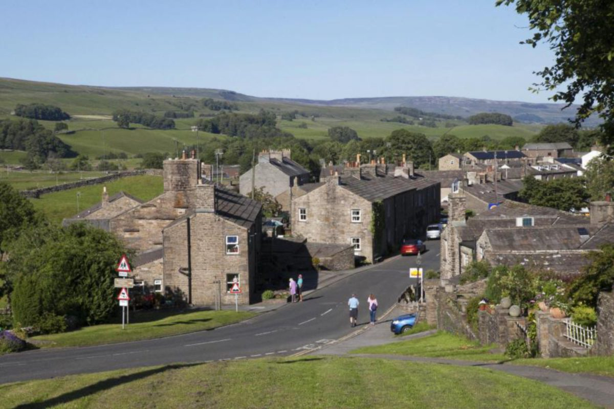 View from the hostel over Hawes