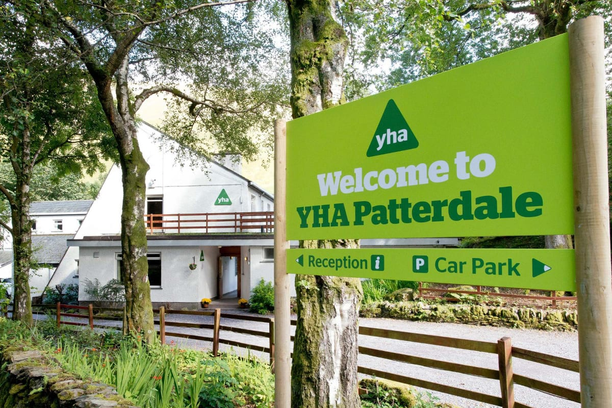 YHA Patterdale welcome sign