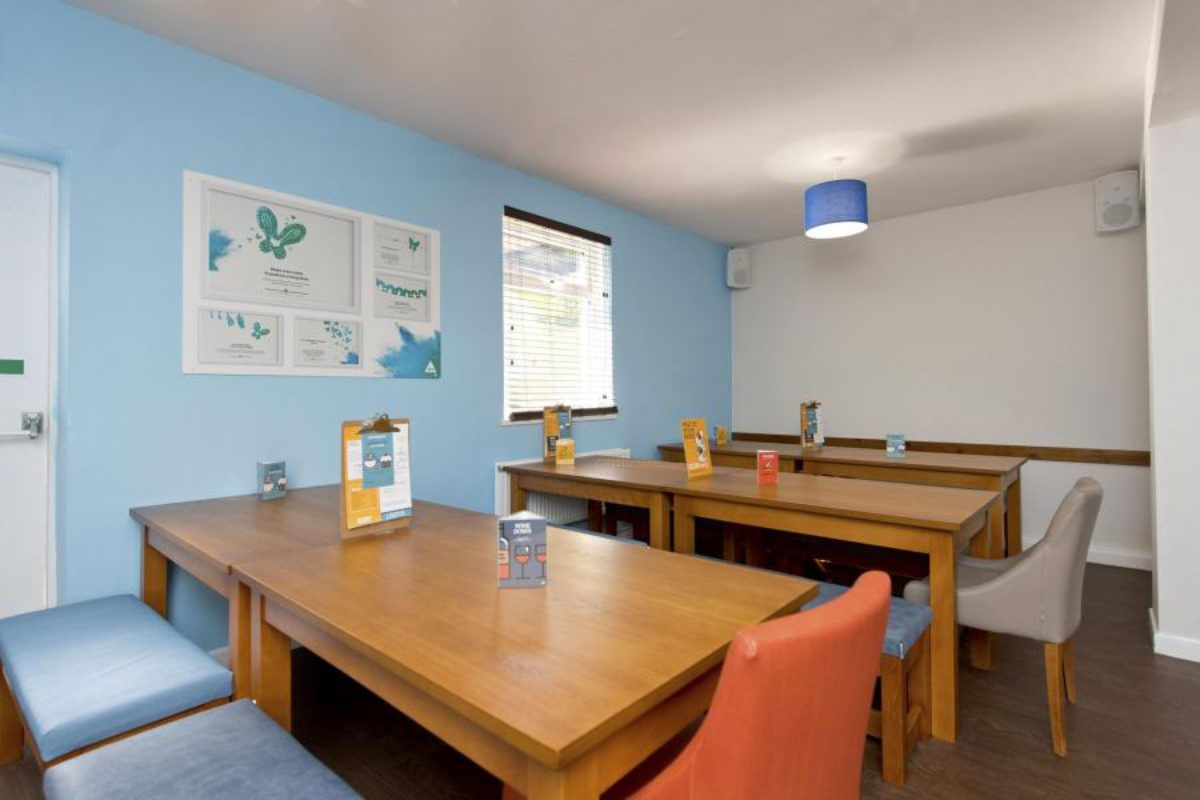YHA Swanage dining tables