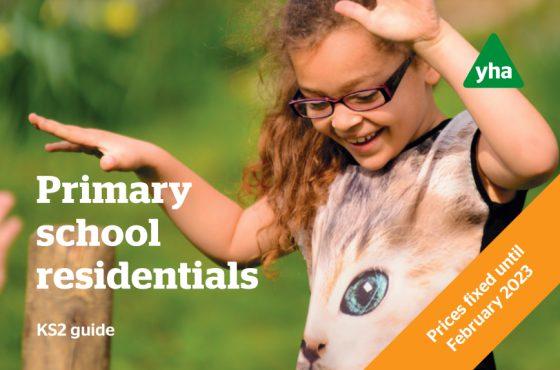 YHA School Trips primary brochure cover