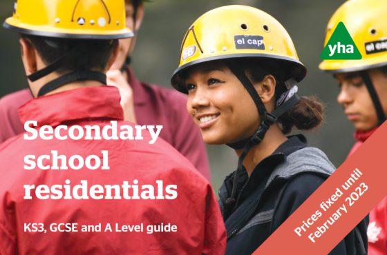 YHA School Trips secondary brochure cover